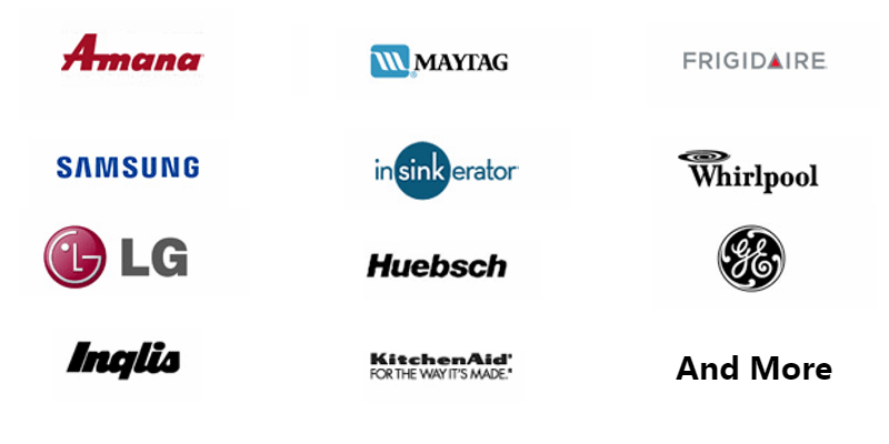 some of the appliance brands that we fix and service in Coquitlam