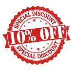We offer a 10% discount for seniors and returning customers.