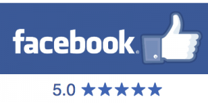 We are rated 5 stars on facebook by our customers